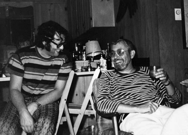 The new Cinepix partners, André Link and John Dunning, kick back at Link's cottage. (Photo courtesy of McGill-Queen's University Press)