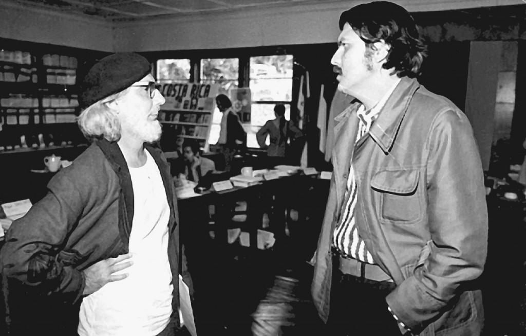 Ernesto Cardenal and Sergio Ramírez, San José, Costa Rica, 1971 (courtesy of Sergio Ramírez)
