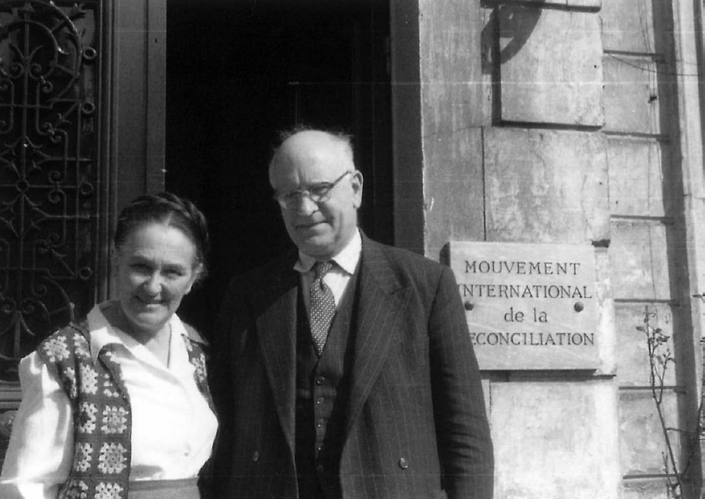 André and Magda, outside their home in Versailles in about 1960.