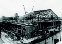 The Forum, Montreal, during construction, 1924. Completed in 159 days