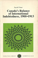 Canada's Balance of International Indebtedness, 1900-1913