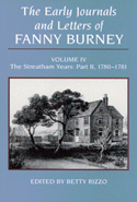 The Early Journals and Letters of Fanny Burney: Volume IV