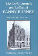 The Early Journals and Letters of Fanny Burney: Volume II, 1774-1777