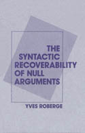 The Syntactic Recoverability of Null Arguments