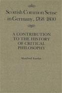 Scottish Common Sense in Germany, 1768-1800