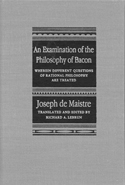 An Examination of the Philosophy of Bacon