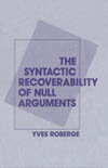 Syntactic Recoverability of Null Arguments, The