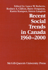 Recent Social Trends in Canada, 1960-2000
