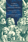 Early Modern Spectatorship