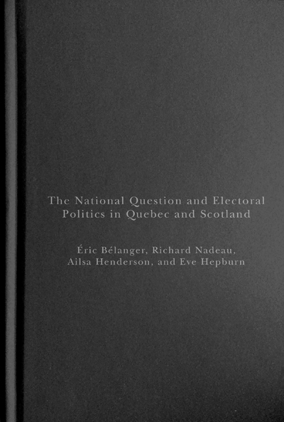 National Identity and Political Culture in Scotland and Quebec Hierarchies of Belonging